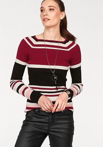 LAURA SCOTT Dryžuotas megztinis »in gerippter švel...