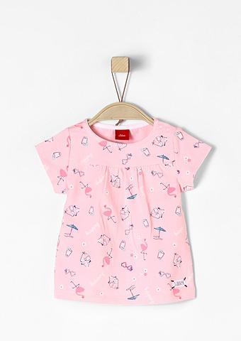 S.OLIVER RED LABEL JUNIOR Marškinėliai su Beach-Print dėl Babys