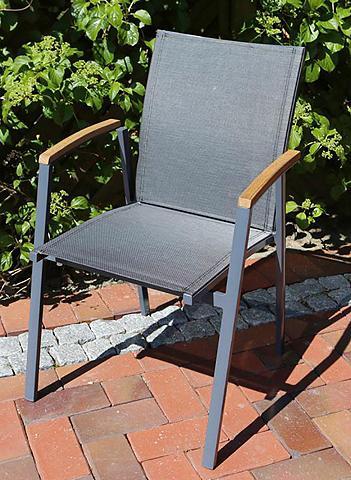 DESTINY Sodo kėdė »FLORES« Alu/Textil stapelba...