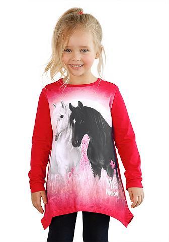 Miss Melody Zipfelshirt su gražus Pferde-Motiv