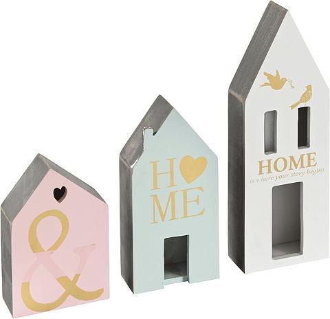 HOME AFFAIRE Dekoracija »Häuser« 3 vnt. rinkinys