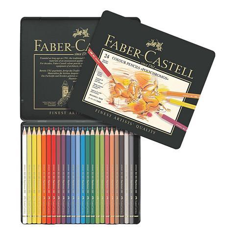FABER-CASTELL 24er-Etui Farbstifte »Polychromos«