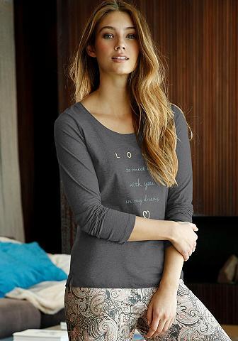 LASCANA Marškinėliai ilgomis rankovėmis su Fro...