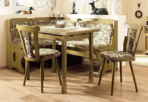 HOME AFFAIRE Kampinis virtuvės suolas su kėdėmis (4...
