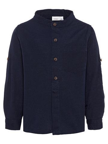 NAME IT Dryžuota Mandarinkragen Marškiniai