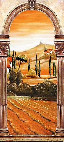 PAPERMOON Fototapetas »Toscana - Türtapete« Blue...