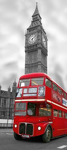 PAPERMOON Fototapetas »London - Türtapete« Blue ...