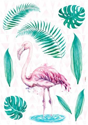 KOMAR Sienos lipdukai »Flamingo« (9er-Set)