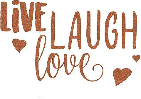 KOMAR Sienos lipdukai »LIVE LAUGH LOVE« (6vn...