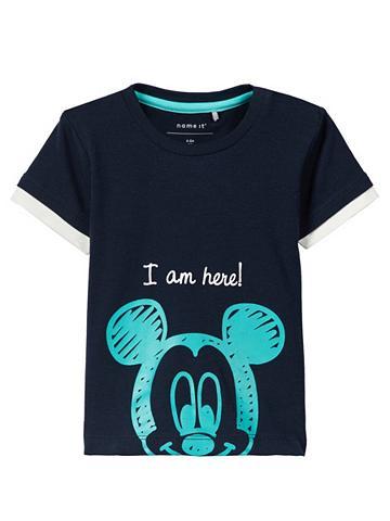 NAME IT Mickey Mouse raštas Marškinėliai