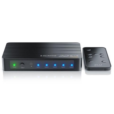 PRIMEWIRE Ultra HD 4k 5-Port HDMI Umschalter ir ...
