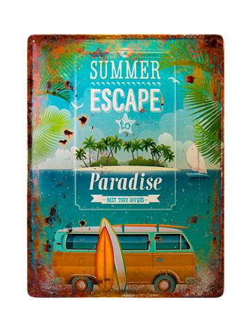 ZEP Wand Deko »Plaque SUMMER ESCAPE 30x40 ...