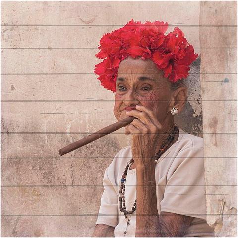 HOME AFFAIRE Paveikslas »Havanna Lady su Kopfschmuc...