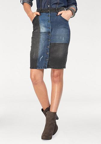ARIZONA Džinsinis sijonas »im Patchwork-Stil«