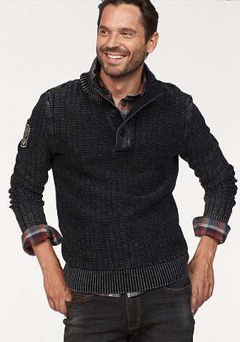 Man's World Megztinis su Ärmelbadge