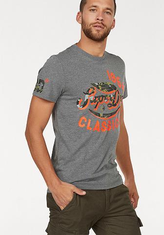 SUPERDRY Marškinėliai »FAMOUS FLYERS CAMO TEE«