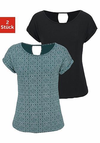 LASCANA Marškinėliai (2 vienetai) su pasikarto...