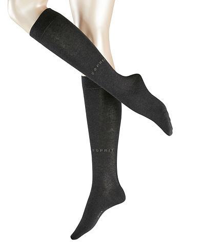 Esprit Kojinės iki kelių »Basic Pure« (1-Paar...