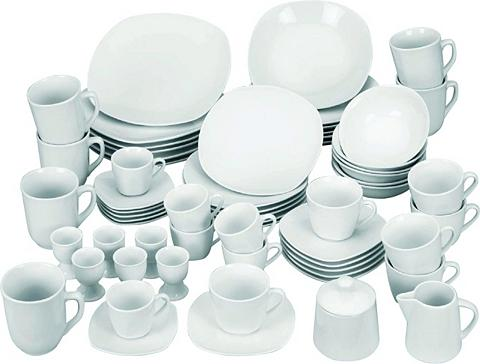 VAN WELL Servizas Porzellan 62 Teile »Atrium«