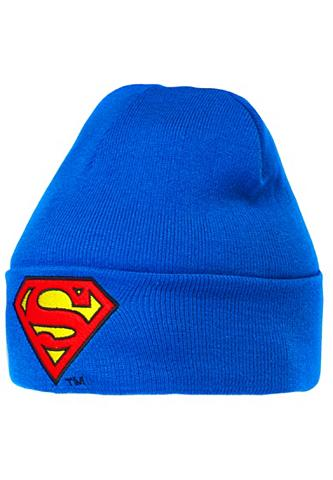 LOGOSHIRT Megzta kepurė su Superman-Logo
