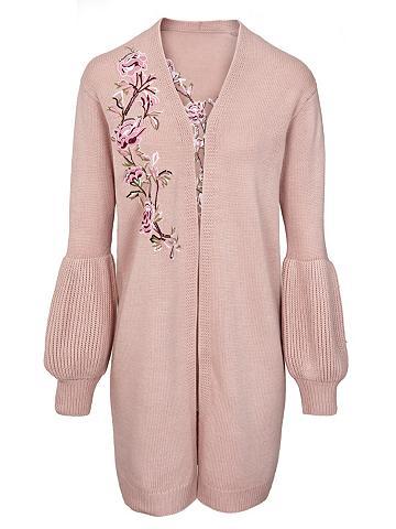 heine CASUAL Ilgas megztinis su išsiuvinėta gėlėmis...