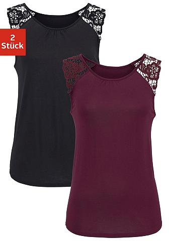 LASCANA Marškinėliai be rankovių (2 vienetai) ...