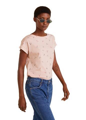 MANGO Raštuotas Marškinėliai