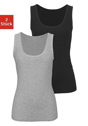 BUFFALO Marškinėliai be rankovių su kontrastfa...