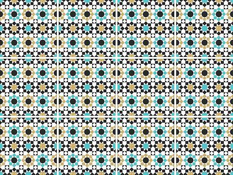 queence Fliesenaufkleber »Mosaik Muster«