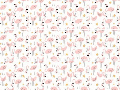 queence Fliesenaufkleber »Flamingos«
