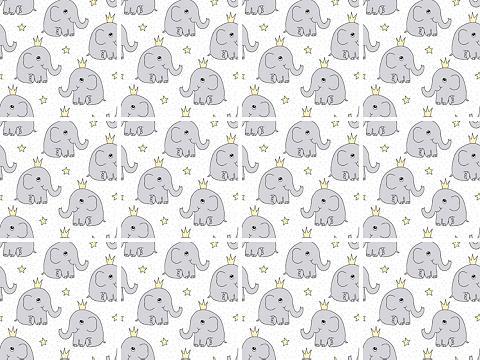 queence Fliesenaufkleber »Elefanten«