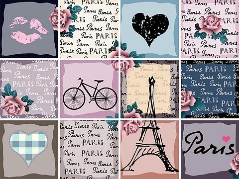 Flisinis tapetas »Paris« 12x 15/15 cm