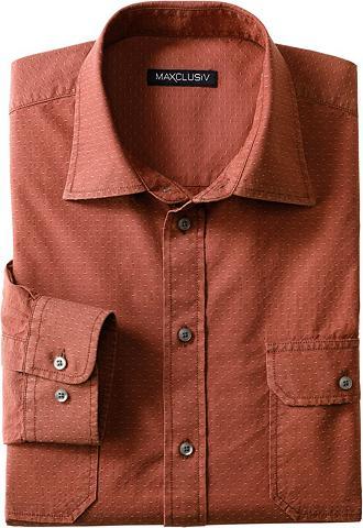 MAXCLUSIV Marškiniai ilgomis rankovėmis su užrai...
