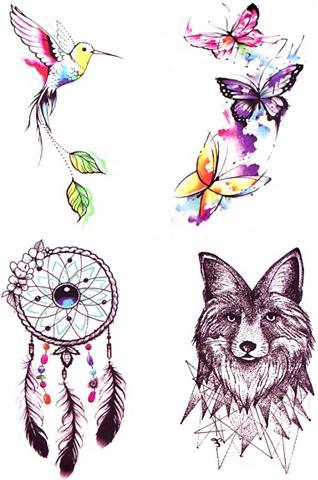 XXL tatuiruotė »Wild Summer« (4 dalių)...