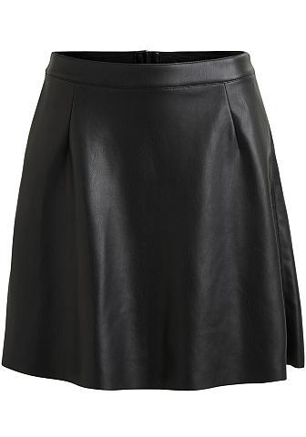 VILA Dirbtinės odos sijonas »PEN SKATER«