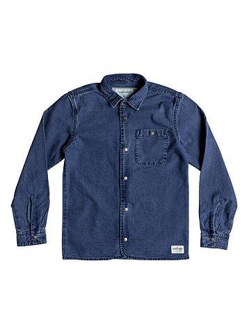 QUIKSILVER Ilgomis rankovėmis džinsiniai marškinė...