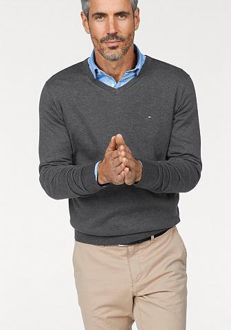 Tommy Hilfiger V-Ausschnitt-Pullover »CORE COTTON SIL...