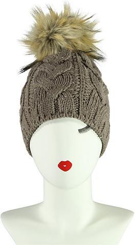 PASSIGATTI Megzta kepurė su dygsniavimas