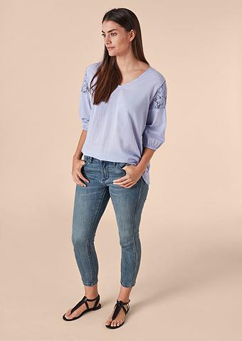 TRIANGLE Delikatus Medvilniniai marškinėliai su...
