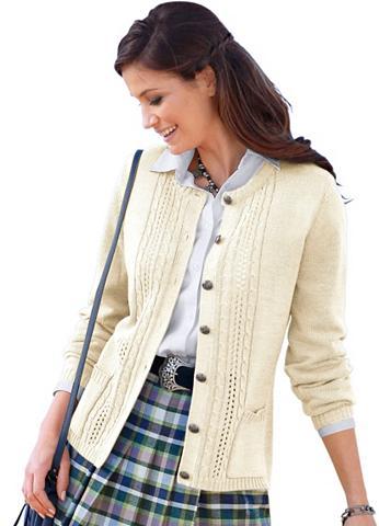 CLASSIC Megztinis su geschmackvollem Zopf- ir ...