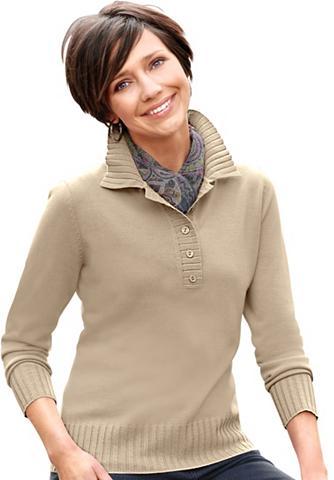 CLASSIC BASICS Megztinis su Polo tipo apykaklė