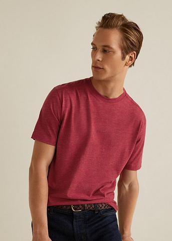MANGO MAN Marškinėliai iš Flamé-Baumwolle