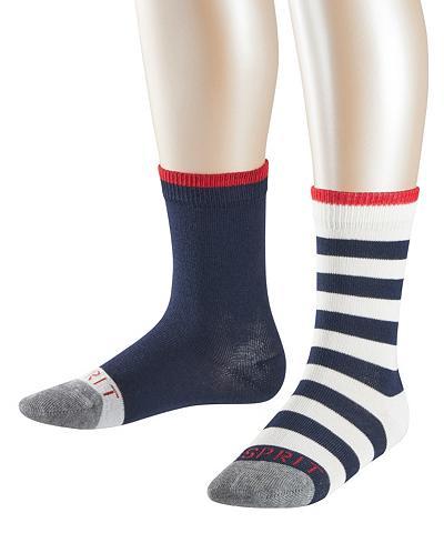 ESPRIT Kojinės dryžuotas Logo 2-Pack (2 poros...