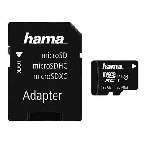 HAMA MicroSDXC 128GB Class 10 UHS-I 80MB/s ...