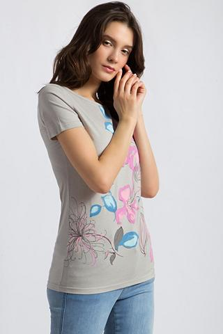FINN FLARE Marškinėliai su großem Blumen-Motiv