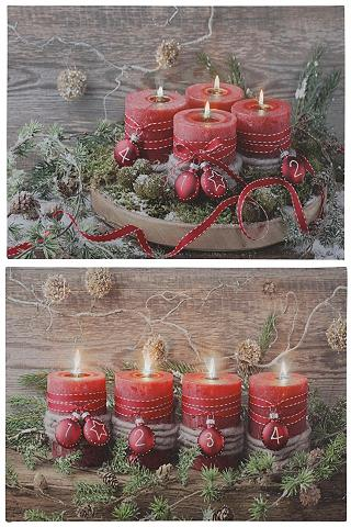 LED-Bilder-Set 2 vnt. rinkinys »Advent...
