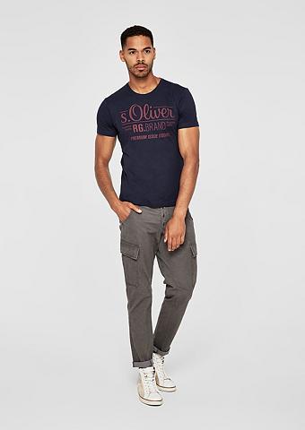 S.OLIVER RED LABEL Marškinėliai su Label-Print