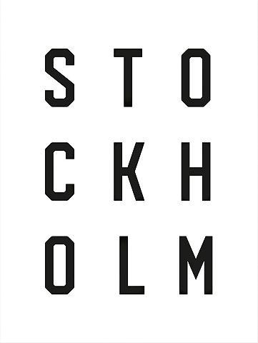 Plakatas »Typographie Stockholm« 60/80...