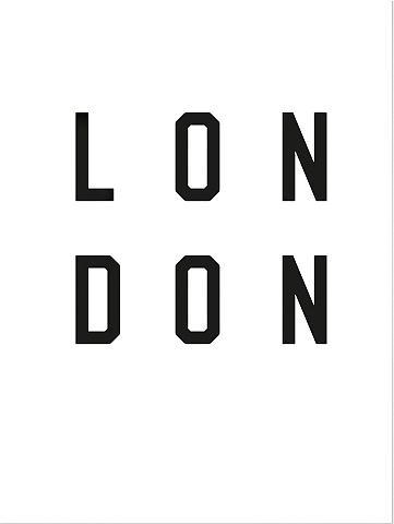 Plakatas »Typographie London« 60/80 cm...