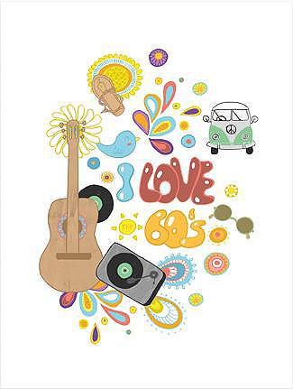 Plakatas »Loske - I love the 60s« 50/6...